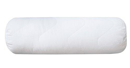 ZOLLNER hochwertige kochfeste Nackenrolle / Nackenstützkissen / Kissen 15x40 cm, Füllgewicht: ca. 210 g, mit Reißverschluss, direkt vom Hotelwäschespezialisten, Serie 'Davos'