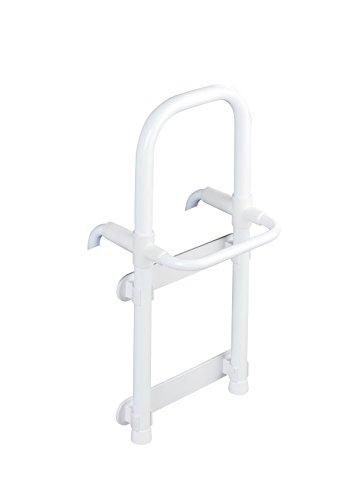 Wenko 8110100 Badewannen-Einstiegshilfe Secura Weiß, verstellbar, 120 kg Tragkraft, Aluminium, 23 x 52,5 x 24,5 cm