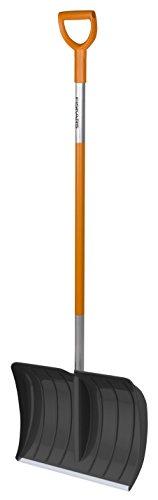 Fiskars Schneeräumer für kleine und große Schneemengen, Blattbreite 52 cm, Kunststoff-Blatt/Aluminium-Stiel, Schwarz/Orange, SnowXpert, 1003469