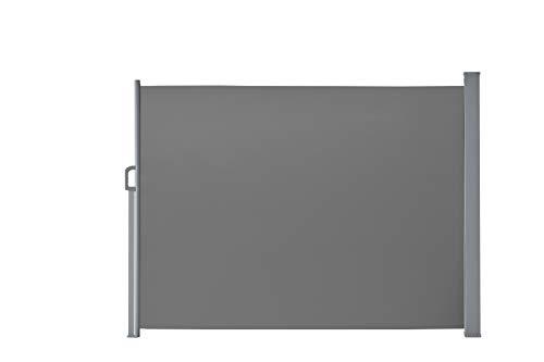 Seitenmarkise für Balkon und Terrasse, mit Bodenmontage, Sichtschutz, Sonnenschutz, Seitenrollo  160 x 300 cm, Anthrazit