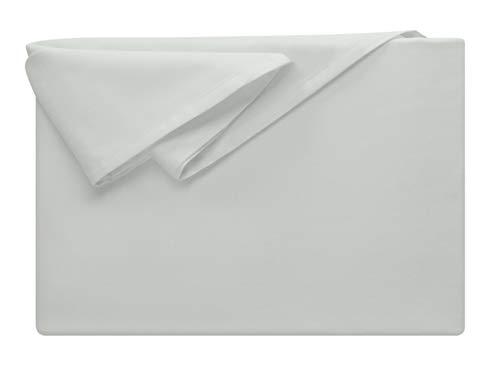 npluseins Bettlaken - 100% Baumwolle - in 5 Farben - in 3 Verschiedenen Größen - Haushaltstuch Ohne Spanngummi, ca. 150 x 250 cm, Silber