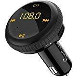 CHGeek Bluetooth FM Transmitter 5V/2.1A KFZ Auto Lokalisierer Wireless mp3 Player Audio Radio Adapter freisprecheinrichtung mit 2 USB Ladegerät, LED Anzeige für iOS und Android Geräte (Schwarz)