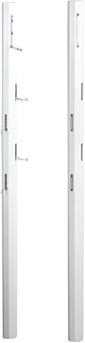 HomeTrends4You 701150 Palo Garderobe, Holz, weiß hochglanz, 185 x 8 x 4 cm