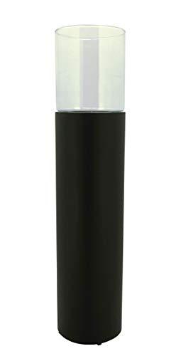 KUHEIGA Windlichtsäule mit Glas schwarz