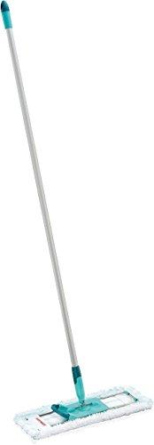 Leifheit rückenschonender Bodenwischer Profi XL micro Duo, effektiver Schrubber mit Bezug aus Mikrofaser, Wischer für Fliesen und Steinböden mit besonders großer Wischbreite und 360° Drehgelenk