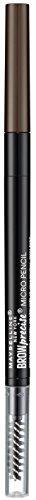 Maybelline Brow Precise Micro Pencil in Deep Brown, 2-in-1 Augenbrauenstift, formt und füllt Augenbrauen sanft und präzise auf, für natürlich volle Brauen und ein lückenloses Finish
