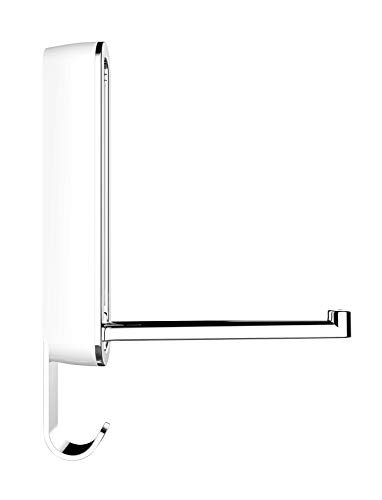 Wenko 50582100 Klapphaken Premium Sigma Polarweiß - Wandhaken, Garderobenhaken, 2.5 x 18.5 x 2.5 cm