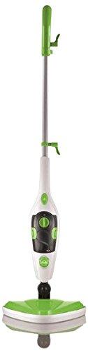 CLEANmaxx 08337 Dampfbesen 5 in 1 | Teppichreiniger | Handdampfreiniger | Fensterreiniger | 350 ml Wassertank | 1.500 Watt | Weiß-Grün