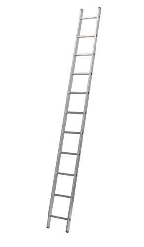 Aluminium Anlegeleiter einteilig, 11 Stufen bei 313 cm Höhe Profi 7111