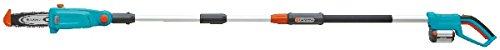 GARDENA Teleskop-Hochentaster TCS Li-18/20 Set: Astsäge für bis zu 30 min Arbeitszeit, bis zu 4 m Reichweite, 20 cm Schwertlänge, abwinkelbarer Kopf, mit Akku, Ladegerät & Tragegurt (8866-20)