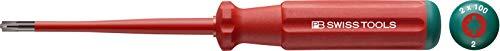 PB Swiss Tools POZIDRIV/SCHLITZ Schraubendreher VDE Elektriker PB 5180 SL, PZ 2, Isoliert bis 1.000 Volt, IEC/EN 60900, 100% Swiss Made, Unbegrenzte Garantie