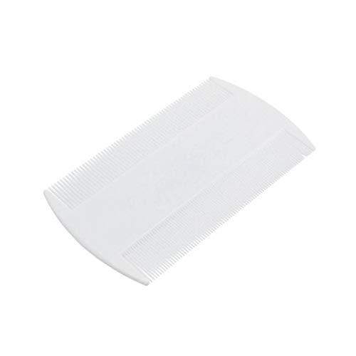 Tragbare Kunststoff Nit Comb Double-Sided Nit Feinen Kamm Zahn Für Kopf Läusekamm Entfernen Pet Floh Remover Weiß
