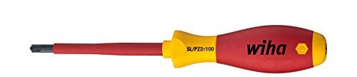 Wiha Schraubendreher SoftFinish electric PlusMinus/Pozidriv (30700) SL/PZ1 x 80 mm  VDE geprüft, stückgeprüft, ergonomischer Griff für kraftvolles Drehen, Allrounder für Elektriker
