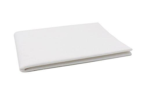 Zollner Wasserdichte Molton/Betteinlage / Inkontinenz-Matratzenauflage weiß, Größe ca. 150x90 cm, in weiteren Größen erhältlich, vom Klinikspezialisten