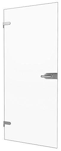 inova Glas-Drehtür 834x1972x8mm Klar-Glas DIN Links + Studio-Beschlag '03' Komplettset Echtglas Glastür Wohnungstür