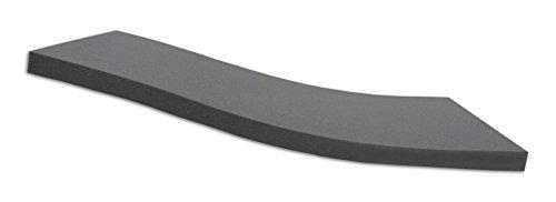 Dibapur  BLACK: Orthopädische Kaltschaummatratze / Akustikschaumstoff - H2 - (90x200x5 cm) Ohne Bezug - Made in Germany