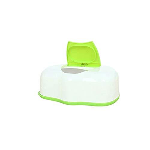 TOPBATHY Feuchttücherbox Kunststoff Feuchttücher Aufbewahrungsbox Tissue Box Kosmetiktücherbox Taschentuchspender (Grün)