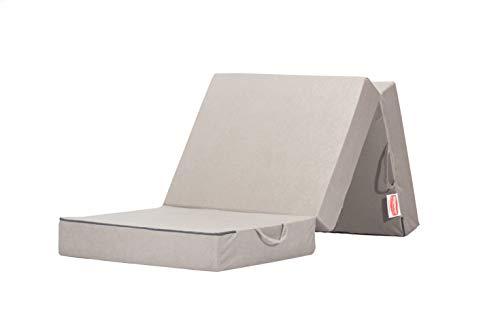 Gigapur 25069 Visco Luxus Klappmatratze in grau, Komfort Schaumstoff-Faltmatratze