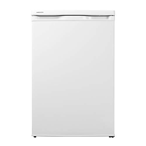 MEDION Kühlschrank (130 Liter, 85cm Höhe, Glasablagen, Gemüseschublade, Freistehend, 91 kWh/Jahr, MD 13854) weiß