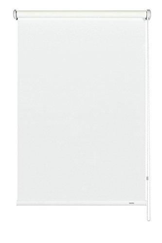 GARDINIA Seitenzug-Rollo, Decken-, Wand- oder Nischenmontage, Lichtdurchlässig, Blickdicht, Alle Montage-Teile inklusive, Weiß, 102 x 180 cm (BxH)