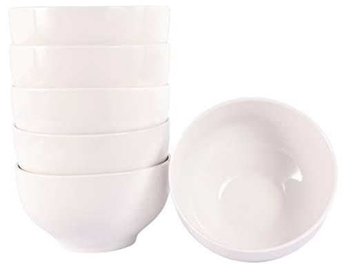 Set aus 6 Stück Müslischalen 500 ml Müslischüsseln aus echtem Porzellan (auch als Dessertschale Snackschale Suppenschüssel)