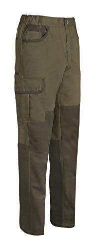 PERCUSSION Herren Sommer Jagdhose Savanne Outdoor Freizeit Wandern Trekking Anglerhose Braun mit Messertasche und Cargotaschen (58)