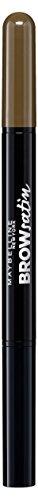 Maybelline Brow Satin Puder-Liner in Medium Brown, 2-in-1 Augenbrauenstift und Augenbrauenpuder, für volle und definierte Augenbrauen, mit natürlich mattem Puder-Finish, 1 g