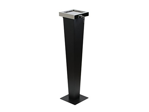 Designer Standaschenbecher - 3 in 1 – Draußen und Drinnen nutzbar 94 cm hoch aus hochwertigen Materialien mit Diebstahlschutz