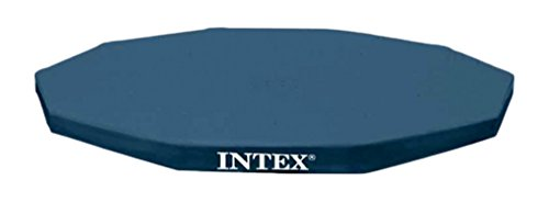 Intex 28032 Abdeckplane für Metal Frame Pool, schwarz, Ø 457 cm, Überhang 25 cm