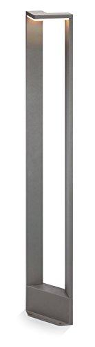 Moderne LED Wegeleuchte Lichtfarbe warmweiß 3000K, Leistung 10 Watt und 650 lm Lichtstrom, Abmessungen (B x H x T): 17 x 100 x 11,7 cm, Außen Standlampe Schutzart IP54, 201166