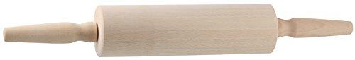 Zenker Teigroller mit Gleitlager, Nudelholz als Backzubehör, Backrolle aus Holz zum Teigrollen - einfach & schonend (Maße: 25 x 6,5 cm), Menge: 1 Stück