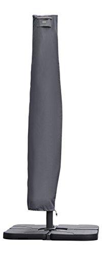 Sekey Schutzhülle für Ampelschirm,Abdeckhauben für Sonnenschirm,grau