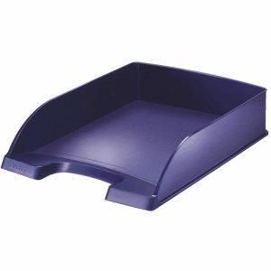 Leitz 52540069Durchmesser Blau Becken Aufbewahrungsschuppen Büro–Becken Aufbewahrungsschuppen Büro (Polystyrol, blau, A4, Umschlag, Brief, Note, Papier, 255x 357x 70mm, 280g)