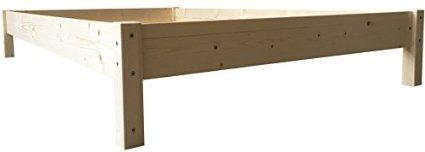 Futonbett Bett Holz Holzbett Massivholzbett 90 100 120 140 160 180 200 x 200cm, hergestellt in BRD (100cm x 200cm)