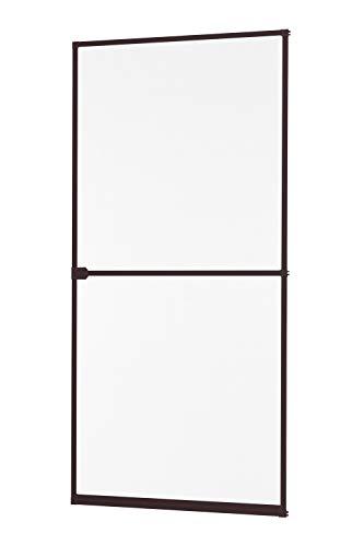 Insektenschutz Fliegengitter Tür Alurahmen START auf Maß geschnitten oder als Selbstbausatz in weiß, braun oder anthrazit 100 x 210 cm