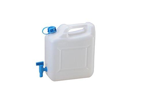 hünersdorff Wasserkanister ECO mit festmontiertem Ablasshahn / Wasserauslauf, 12 Liter, Made in Germany