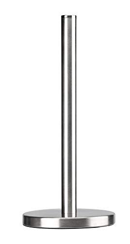 KADAX Papierhandtuchhalter, Küchenrollenhalter, praktischer Papierhalter, Küchenrollenspender, Rollenhalter, Küchenrolle, Edelstahl, stabile Basis und Ausführung (Gebürsteter Stahl)
