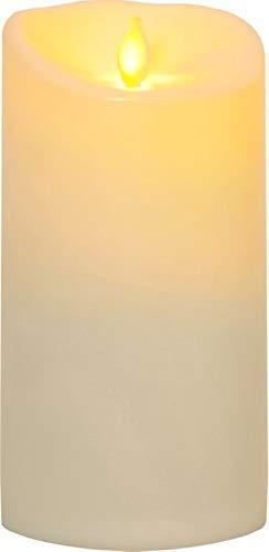 Best Season LED-Kerze, Plastik, Beige, 9 x 9 x 17.5 cm