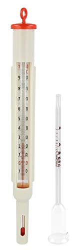 Lantelme Maischethermometer Glas Vinometer Set Profi Hobby Winzer Wein Maische Thermometer Alkoholherstellung 7558