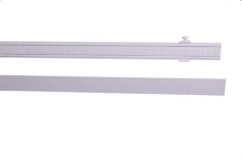 IXX-Design Aluminium Paneelwagen, Schiebepaneel, Rollwagen, mit Beschwerungsstab, weiß, 60 cm