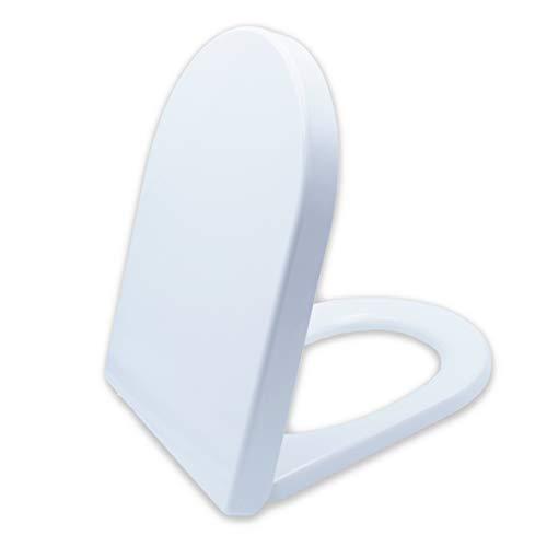 Premium WC-Sitz mit Absenkautomatik – Antibakteriell dank Duroplast – Toilettendeckel mit QuickClean Funktion – Einfacher Einbau von oben – 100% Zufriedenheitsgarantie
