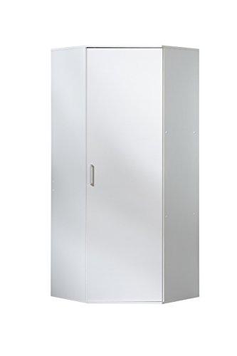 WILMES 40135-75 0 75 Eckschrank Ronny Dekor Melamin, 75 x 178 x 75 cm, weiß