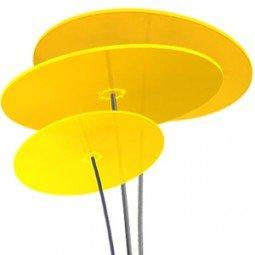 Cazador-del-sol  | tres | 3 Stück Sonnenfänger gelb, Durchmesser 20 cm, 1,75 Meter hoch - das Original