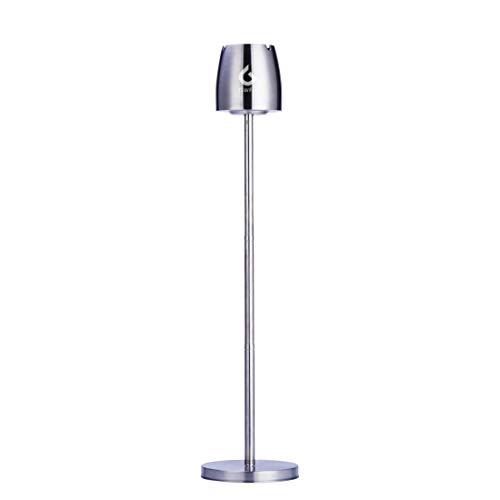 GWELL Einstellbarer Aschenbecher Stand aus Edelstahl Standaschenbecher Stand Aschenbecher Floor Standing Ashtray für Draußen Drinnen Stabil mit Rutschfester Basis von 21.8 cm bis 56.2 cm Hoch