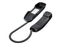 Gigaset DA210 Telefon - Schnurgebundes Telefon/Schnurtelefon - Stummschaltung/Mute - Analog Telefon - anthrazit