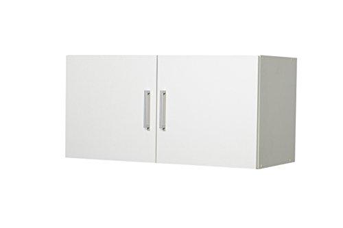WILMES 49106-75 0 75 Aufsatz Ronny, 2 Türen Dekor Melamin, 80 x 40 x 39 cm, weiß