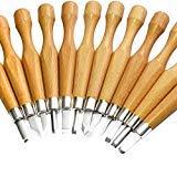 Schnitzwerkzeug Set, Super scharfe und stärkere Klingen-Upgrade Handwerk Schnitzen Werkzeuge Holzschnitt Messer Set, Kincrea Carving Set Hochwertige SK7 Kohlenstoffstahl +Messerkappe JA023