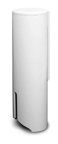 Fackelmann 86910 Wattepad-Spender, Kunststoff, weiß