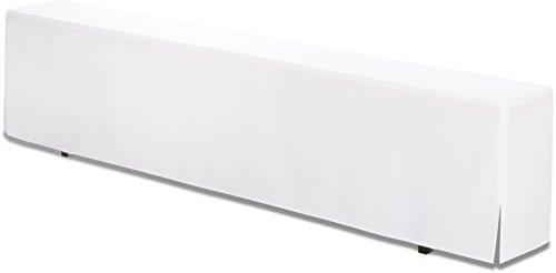 Hussenkönig Bierbank-Hussen bodenlang 220x25x46cm für Bierzeltgarnitur Weiß PREMIUM