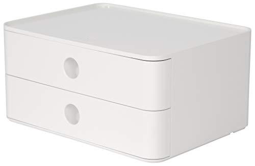 HAN 1120-12, SMART-BOX ALLISON, Design Schubladenbox stapelbar mit 2 Schubladen, snow white